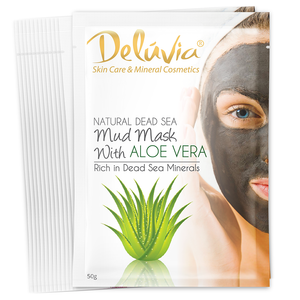 Mud Mask Sachet with Aloe Vera (12) - Deluvia