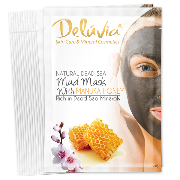 Mud Mask Sachet with Manuka Honey (12) - Deluvia