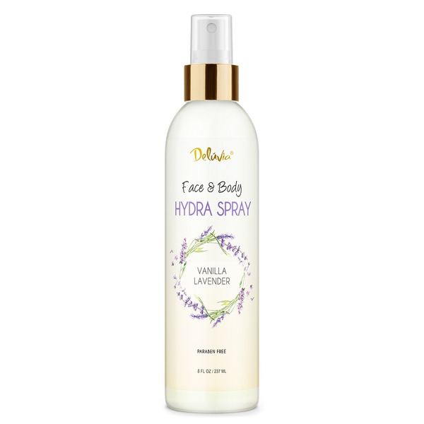 Face & Body Hydra Spray - Vanilla Lavender - Deluvia