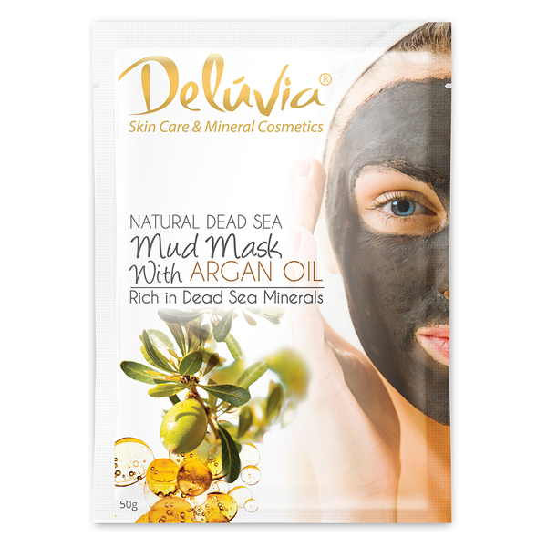 Dead Sea Mask Sachet with Argan Oil - Deluvia