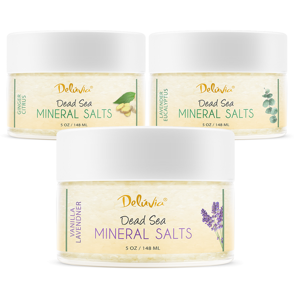 3 Pack - Dead Sea Mineral Salts - Deluvia