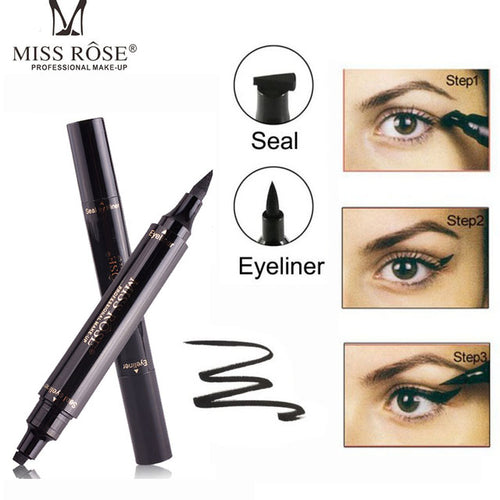 Makeup Liquid Rose Eyeliner Pencil Quick Dry Waterproof wing Eye Liner With Miss Stamp Eye Pencil free shipping