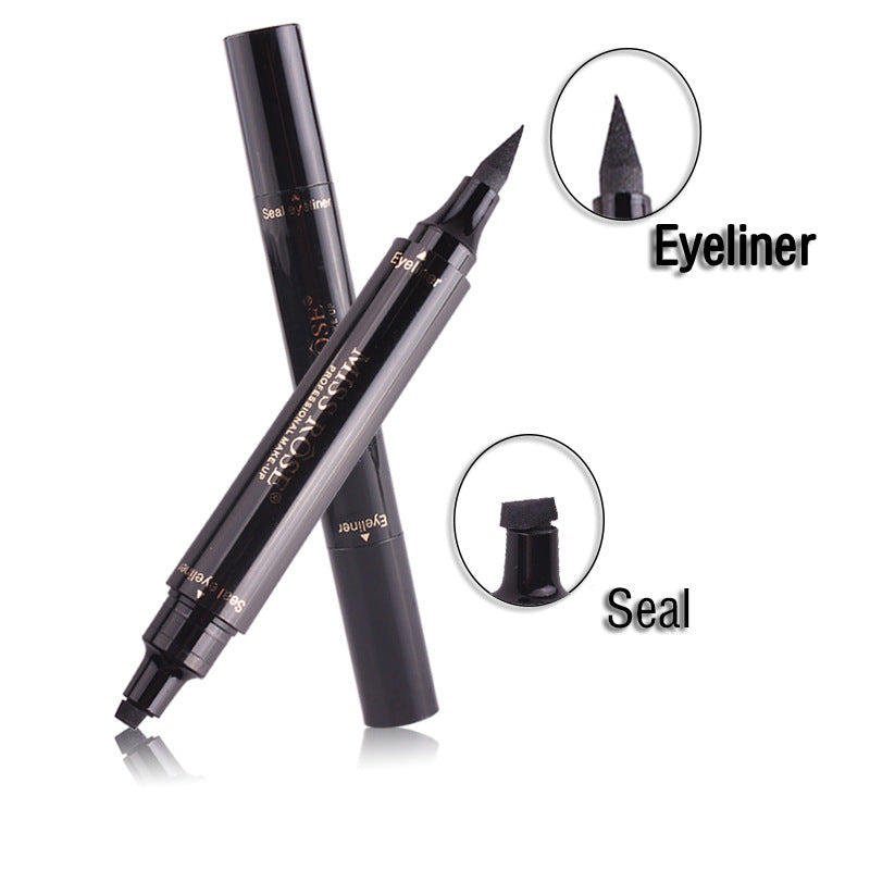 Eyeliner Makeup Liquid Rose Eyeliner Pencil Maquiagem Quick Dry Waterproof Wing Eye Liner With Miss Stamp Eye Pencil Free Shipping
