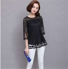 Luxury Lace O Neck Blouse Long Mesh - The Perfect Match
