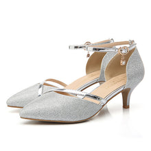 Sexy Luxury Rhinestones Low Heel Buckle Strap Pumps Shoes - The Perfect Match