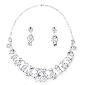 Set Crystal Pendant Necklace & Earrings - The Perfect Match