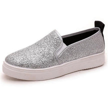 Flat Heel Glitter Slip On Round Toe Solid Loafers shoes - The Perfect Match