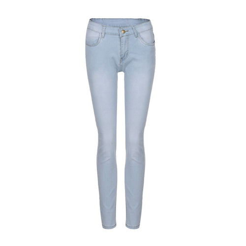 Women Skinny Denim Jeans Pants High Waist Stretch Slim Pencil Trousers - The Perfect Match