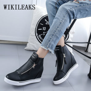 Fashion High Sneakers with zipper - The Perfect Match
