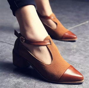 Hot Women Pumps Pointed Toe Buckle Leather High Heels Shoes - The Perfect Match