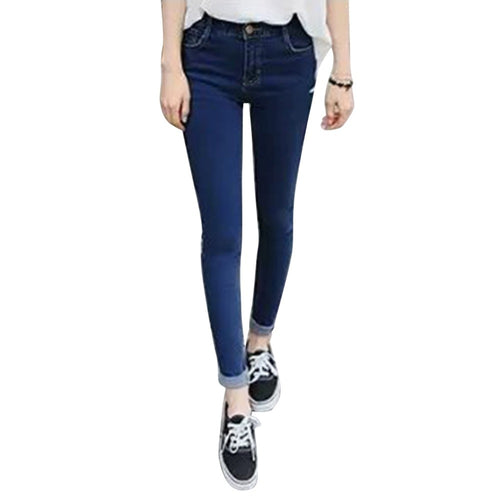 Spring Pencil Stretch Denim Skinny Jeans - The Perfect Match