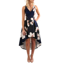 Womens Flower Print Long Boho Dress Lady Beach Summer Sundrss Maxi Dress - The Perfect Match