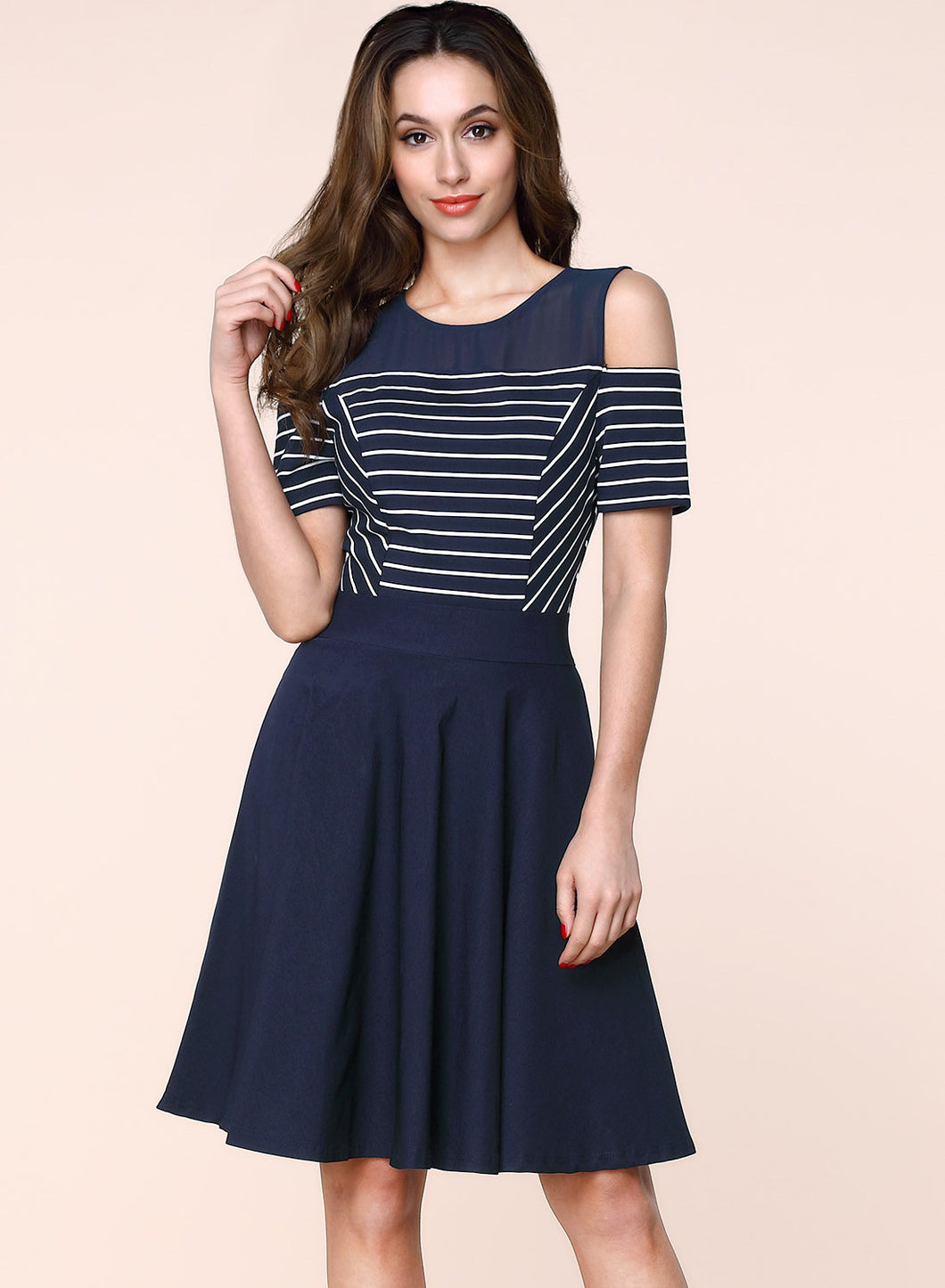 Sexy Navy Style Business Mini Dress - The Perfect Match