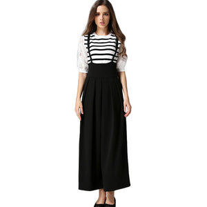 9109aba045 Free Ostrich Women's pants spring and summer new high waist suspenders wide  leg pants casual pants