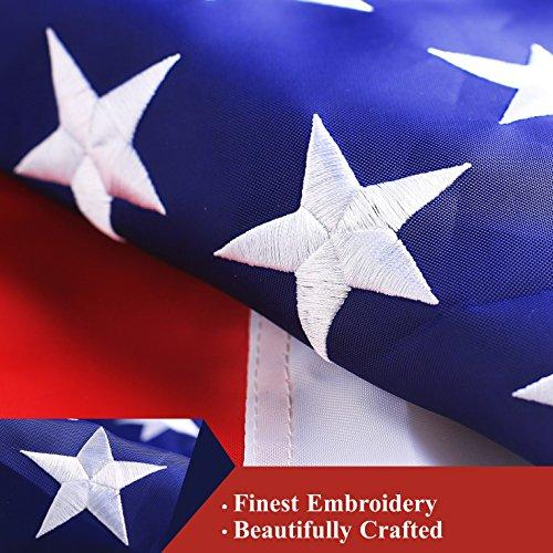 American Flag - Embroidered Stars & Sewn Stripes (Various Sizes)