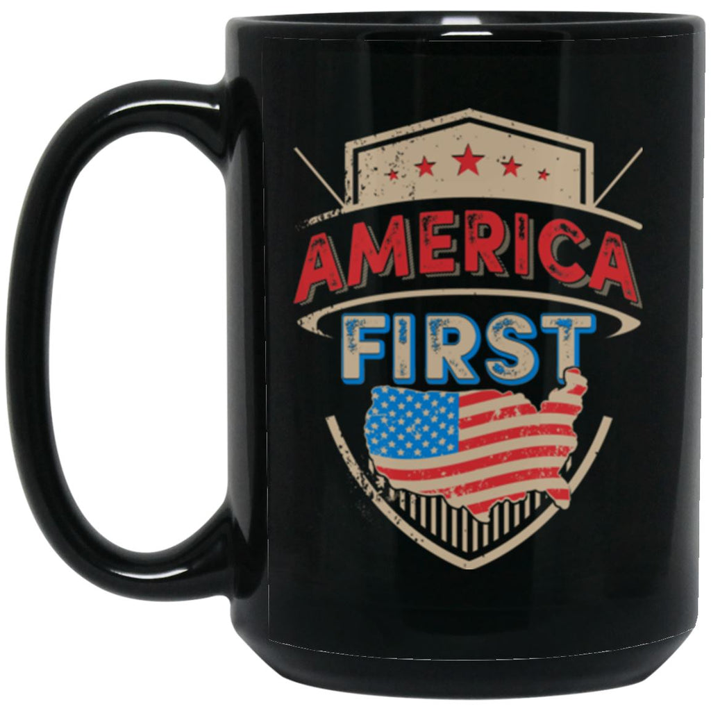 America First 15 oz. Black Mug