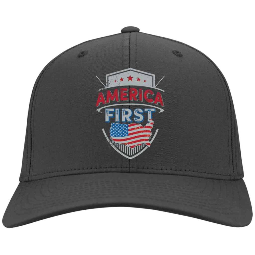 America First - Port & Co. Twill Cap