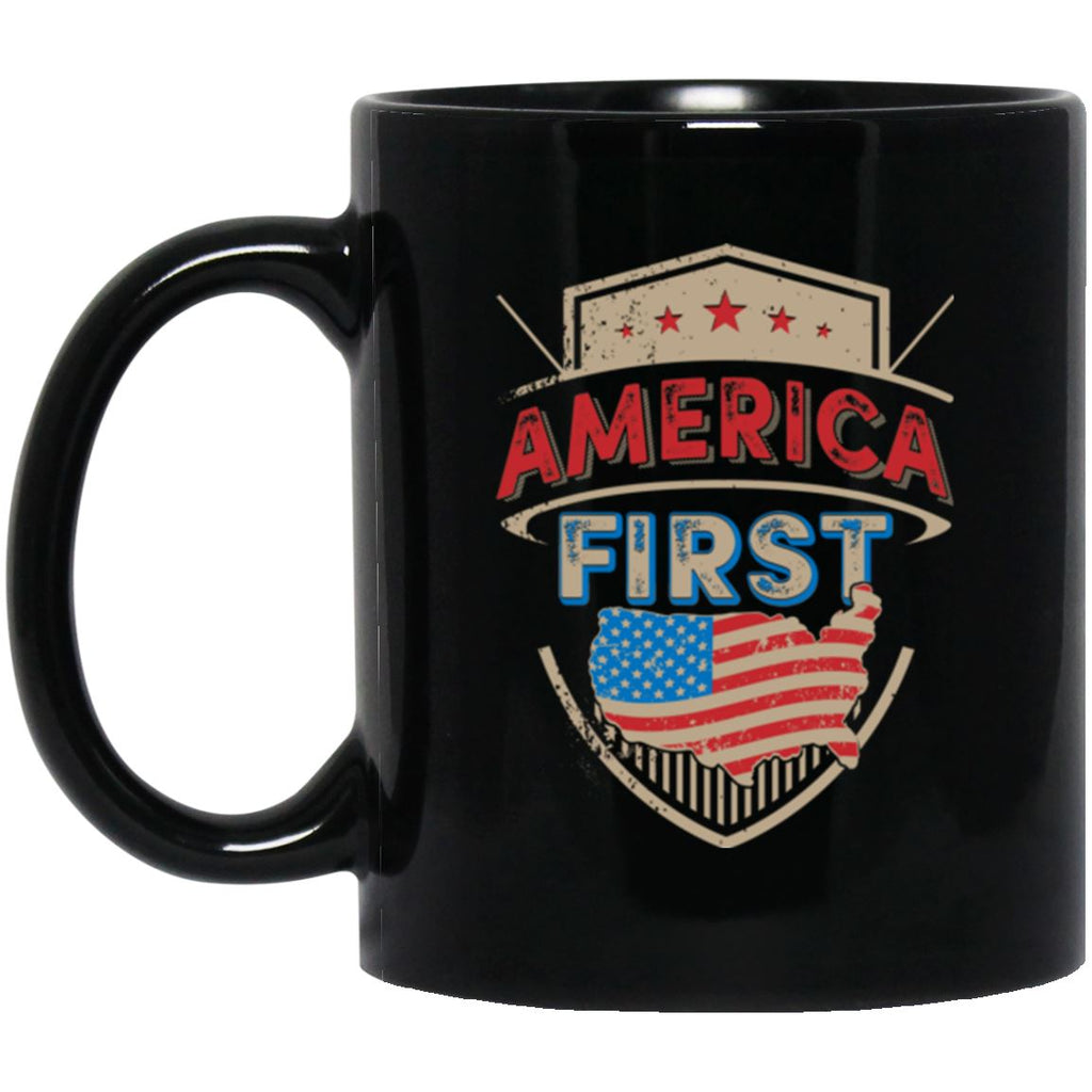 America First 11 oz. Black Mug