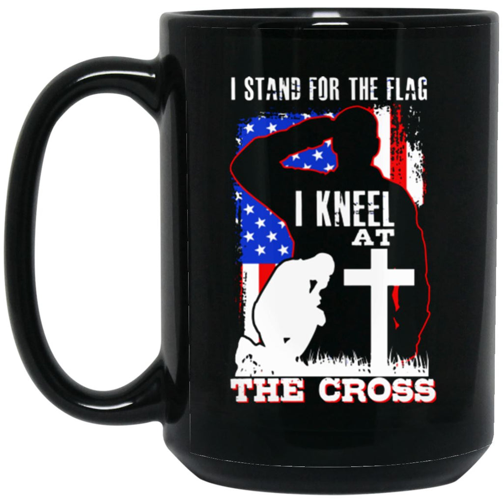 Stand For The Flag 15 oz. Black Mug