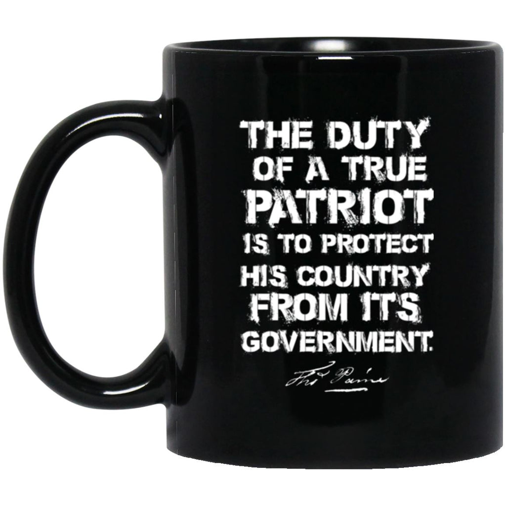 Duty Of A True Patriot 11 oz. Black Mug