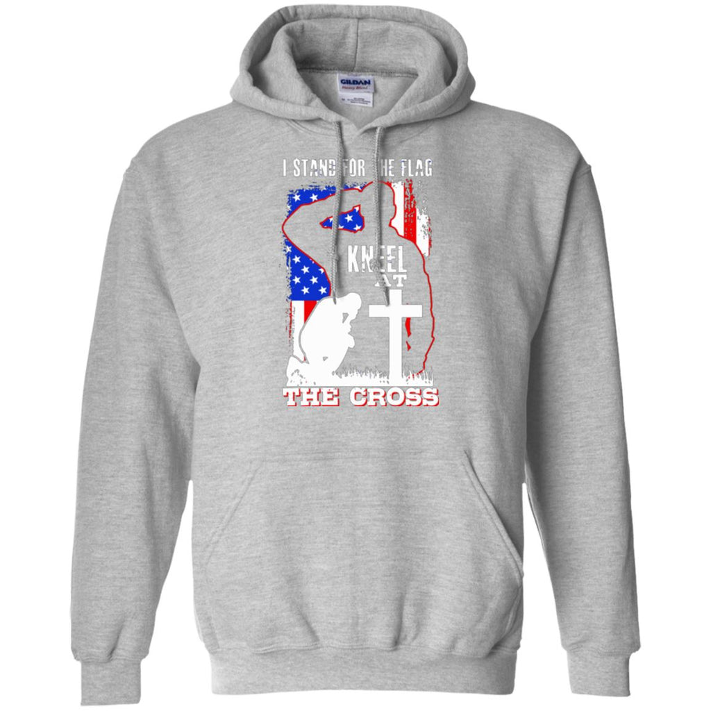 I Stand For The Flag, I Kneel At The Cross Hoodie