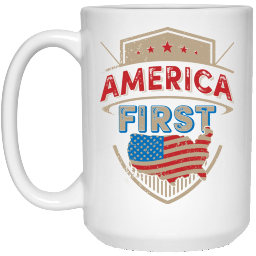 America First 15 oz. White Mug