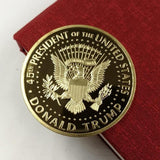 President of The United States Trump Gold Plated Souvenir Coin Medal