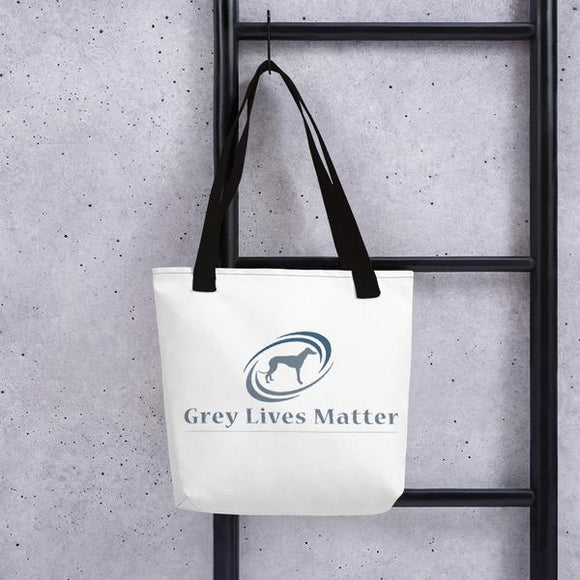 Greyhound Tote Bag with Grey Lives Matter Logo