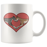 Greyhound Love Heart 11oz Mug - Grey Lives Matter Shop