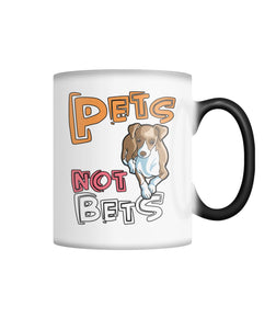 Pets Not Bets Cartoon Color Changing Mug - Grey Lives Matter Shop
