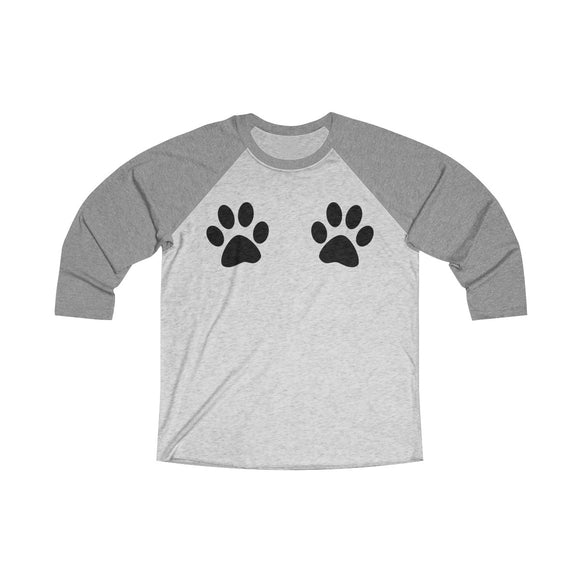 Paw Print Baseball T-Shirt - Grey Lives Matter Shop