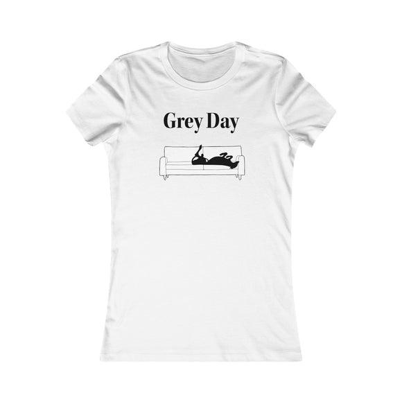 Grey Day T-Shirt with Greyhound on Couch - Grey Lives Matter Shop