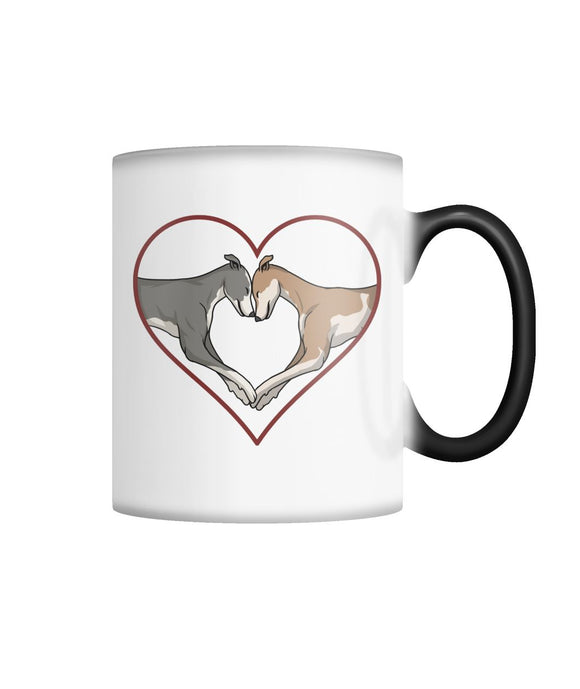 Greyhound Love Heart Color Changing Mug - Grey Lives Matter Shop