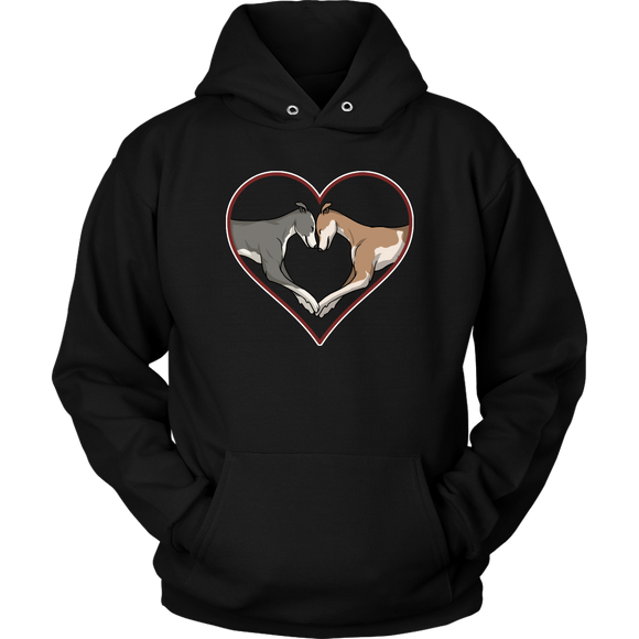 Greyhound Love Heart Unisex Hoodie - Grey Lives Matter Shop