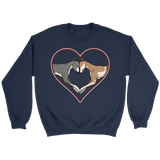 Greyhound Love Heart Crewneck Sweatshirt - Grey Lives Matter Shop