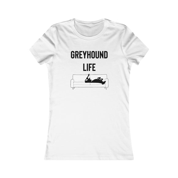 Greyhound Life T-Shirt - Greyhound on Couch - Grey Lives Matter Shop