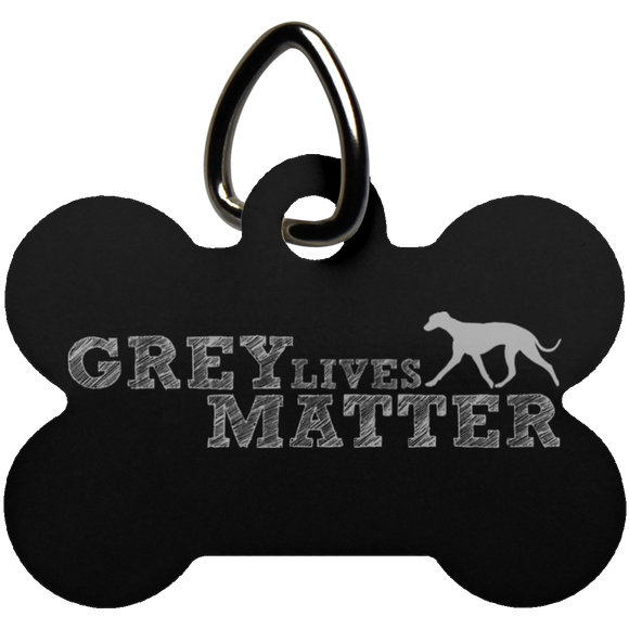 Grey Lives Matter Logo Dog Bone Pet Tag - Grey Lives Matter Shop