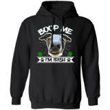 Boop Me I'm Irish Pullover Hoodie 8 oz. St. Patricks day Special - WHTXT - Grey Lives Matter Shop
