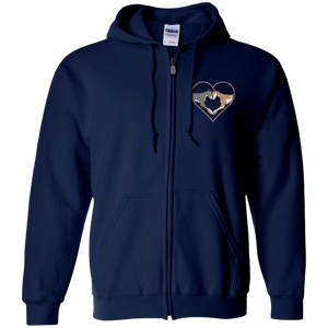 Greyhound Love Heart Custom Embroidered Zip Hoodie - Grey Lives Matter Shop