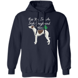 Kiss Me Irish Greyhound Mom Pullover Hoodie 8 oz. St. Patricks day Special WHTXT - Grey Lives Matter Shop