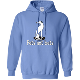 Pets Not Bets Sitting White Greyhound Pullover Hoodie - Grey Lives Matter Shop