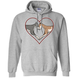 Greyhound Love Heart Pullover Hoodie - Large Heart - Grey Lives Matter Shop
