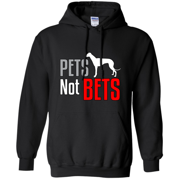 Pets Not Bets Standing Greyhound Pullover Hoodie - Grey Lives Matter Shop