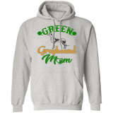Green Greyhound Mom Pullover Hoodie 8 oz. St. Patricks Day Special - GRNTXT - Grey Lives Matter Shop