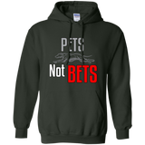 Pets Not Bets Running Greyhound Pullover Hoodie - Grey Lives Matter Shop
