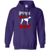 Pets Not Bets Red and White Pullover Hoodie - Grey Lives Matter Shop