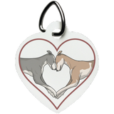 Greyhound Love Heart Pet Tag - Grey Lives Matter Shop