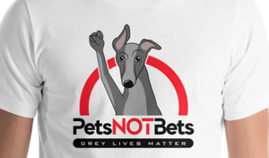 Pets Not Bets Red Arch - Short-Sleeve Unisex T-Shirt - Grey Lives Matter Shop