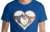 Greyhound Love Heart Short-Sleeve Unisex T-Shirt, WCH - Grey Lives Matter Shop