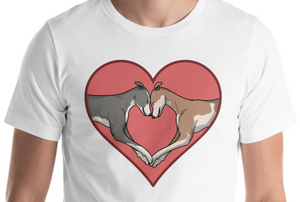 Greyhound Love Heart Short-Sleeve Unisex T-Shirt, PCH - Grey Lives Matter Shop